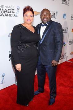 David and Tamela Mann at the 2013 NAACP image awards.