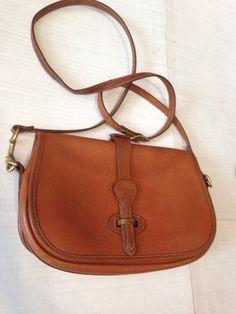 dd2690e7bc Vintage Dooney And Bourke Tan Leather Crossbody Shoulder Bag Over Under   DooneyBourke  ShoulderBag Tan