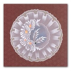 Claritystamp Groovi Plates - Frilly Circles - Claritystamp from Crafter's Companion UK Brush Embroidery, Silk Ribbon Embroidery, Clarity Card, Vellum Crafts, Parchment Design, Parchment Cards, Lace Painting, Butterfly Template, Handmade Stamps