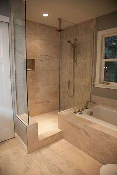 Cool 85 Beautiful Bathroom Shower Tile Decor Ideas https://decorapartment.com/85-beautiful-bathroom-shower-tile-decor-ideas/