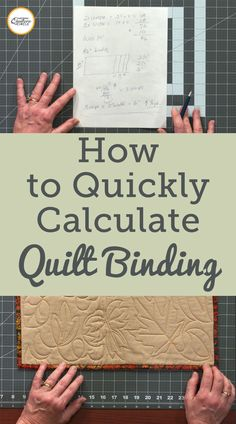 While most quilt patterns will provide you with fabric requirements to complete the quilt top and may even give you the amount of fabric needed for the backing fabric- not all patterns include the length of binding needed. ZJ Humbach explains how to quickly and easily calculate quilt binding, taking into account the extra needed to miter the corners and join the binding ends. Quilting For Beginners, Quilting Tips, Quilting Tutorials, Quilting Projects, Quilting Designs, Sewing Projects, Beginner Quilting, Sewing Hacks, Sewing Basics