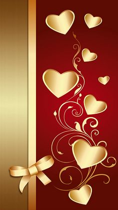 samsung wallpaper gold Gold n Red Hearts Wallpaper. By Artist Unknown. Heart Iphone Wallpaper, Flower Phone Wallpaper, Gold Wallpaper, Butterfly Wallpaper, Cellphone Wallpaper, Wallpaper Backgrounds, Wallpaper Ideas, Wallpaper Corazones, Tapete Gold