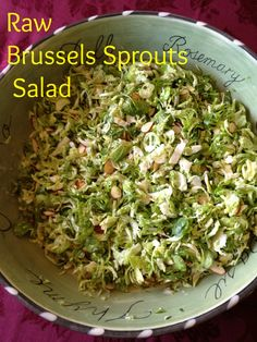 Raw Brussels Sprouts Salad - Running With Perseverance