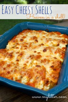 Easy Cheesy Shells – Ricotta Stuffed Shells http://mylitter.com/recipes/easy-cheesy-shells-ricotta-stuffed-shells/