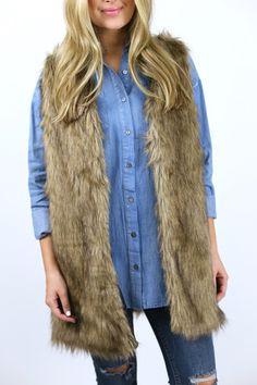 Fall Nights Fur Vest – The Happy Goose Shop
