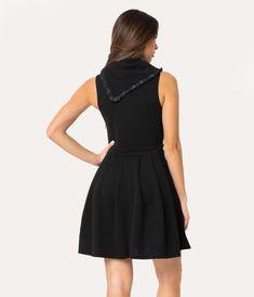 290b5d3df6313 Folter Plus Size Black Stretch Knit Heart Jumper Dress