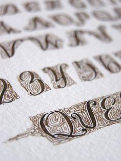 @Arteriole Calligraphy #alphabet #quercus #ink #arches