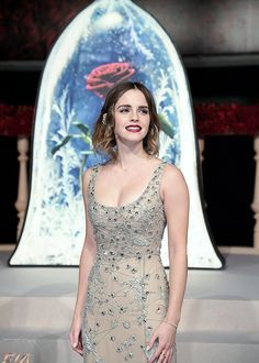 """Emma Watson at the """"Beauty and the Beast"""" Premiere in Shanghai, China (02.27.17)  Pinned by @lilyriverside"""