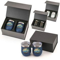 HOTTEST BRAND NEW Corporate Gifts of 2018! The Napa Stemless Wine Tumbler Set! Makes