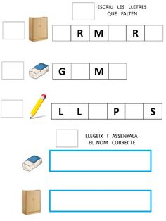 Catalan Language, Worksheets, Diagram, School, Colors, Texts, Frases, Phonological Awareness, Interactive Notebooks