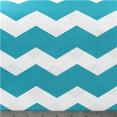 New Fabric in at Reesey Roo's!  Perfect for spring and summer; boys and girls!  A big applique initial with this would be so cute on a tshirt! Turquoise & White Chevron Stripe Fabric | Shop Hobby Lobby