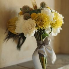 An unbelievably chic yellow and grey wedding in Palm Springs.