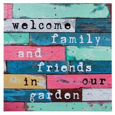 BUITENCANVAS WELCOME 79X79 CM Welcome, Patio, Signs, Garden, Outdoor, Outdoors, Garten, Terrace, Novelty Signs