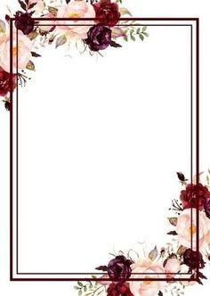 Latest Photos Watercolor Modern Wedding Invites - Affordable Wedding Invitations - Anthology C . Framed Wallpaper, Flower Background Wallpaper, Flower Phone Wallpaper, Flower Backgrounds, Invitation Floral, Wedding Invitation Background, Floral Wedding Invitations, Free Printable Wedding Invitations, Floral Border