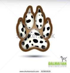 I think I need this as a RIP tat for Tweeker    Dalmatian footprint for a tattoo