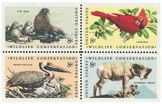 1972 8c Wildlife Conservation, Block of 4 Scott 1464-67 Mint F/VF NH www.saratogatrading.com