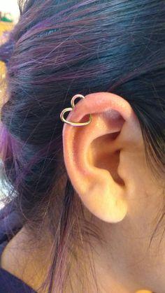 Industrial ear Heart Piercing