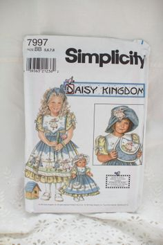 Simplicity 7997 Daisy Kingdom Girls Dress by FromMagpiesReverie, $5.00