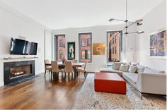 A two-bedroom loft in SoHo in a building developed by famed hotelier Andre Balazs. $2700000