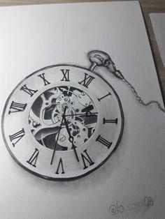 Relógio tattoo sketch