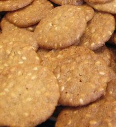 Benne Seed Cookies: These cookies have been a southern favorite for over a hundred years. You will find these delicious Benne Wafers in candy shops and stands throughout the Low Country (the coastal area around Charleston, SC) of the South. These delicate cookies are light, crisp, and paper thin with a delightful nutty taste. You have to be careful, because we are very addictive!
