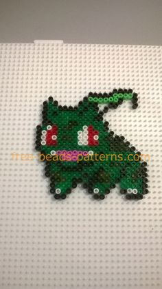 Pokemon Bulbasaur work finished photos perler beads Hama Beads author site user Bill (4)