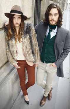 Ad campaign for The Kooples, they use real life couples to model the clothes, pretty cool