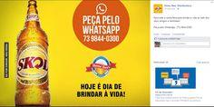 Postagem para o Facebook da distribuidora de bebidas Home Beer. Itabuna-BA