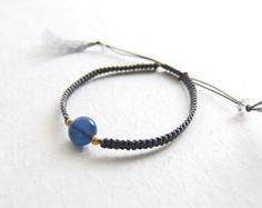blue kyanite bracelet Braided Bracelets