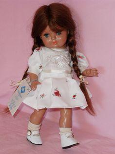 """Schildkröt Puppe poupée doll """"BEBILINCHEN"""" Echthaar Zertifikat neu"""