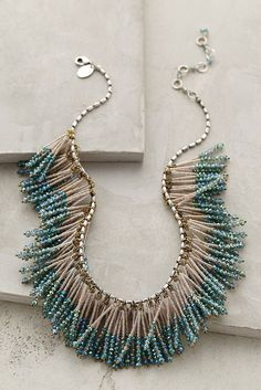 How cool is this beaded fringe necklace?