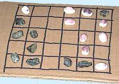 """Jeu """"yoté"""" exemple de partie. 20 pions et un plateau 5x6. Règle  sur le site : http://jeuxstrategie.free.fr"""