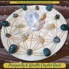 This Prosperity Crystal Grid is the perfect way to create a subtle background energy to enhance our holiday manifesting abilities.