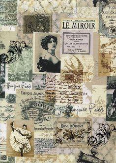 collage paaris sepia Parisian theme