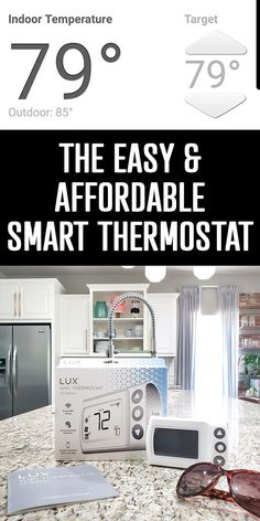 Control your heat and air conditioning from anywhere with the new easy and affordable smart thermostat - LUX CS1. Post includes details and a coupon code! Cool Diy Projects, Home Projects, Design Projects, Living Room Accessories, Home Accessories, Home Tech, Home Tools, Home Organization, Organizing