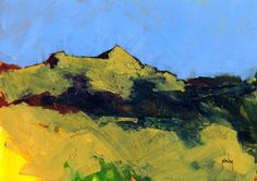 Semi-abstract landscape original painting - Perthshire hills