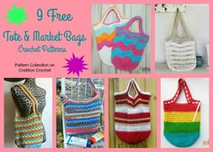 Tote and Market Bags Pattern Collection - Cre8tion Crochet
