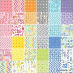 From Bump to Baby Charm Pack - Gina Martin - Moda Fabrics