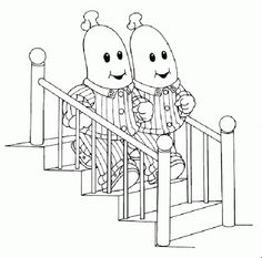 We can print some of these off and set up a coloring station! Bananas in Pyjamas Coloring Pages | Learn To Coloring