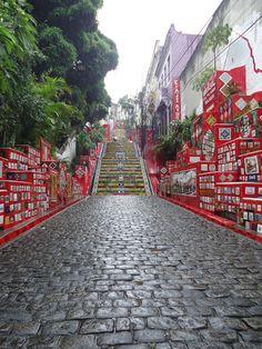eSCADARIA sELARON - Street in Rio de Janeiro, Brazil