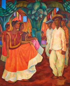 """33W/""""x40H/"""" THE FLOWER VENDOR by DIEGO RIVERA SPANISH MUSEUM Repro CANVAS"""