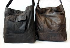 Upcycled Bags Made from your Leather Coats or Favorite Jeans