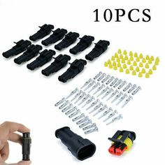Car 2-Pin Way Sealed Water Dust Proof Electrical Wire Connectors Plug Repair Kit