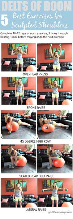 Delts of Doom Workout: 5 Best Exercises for Sculpted Shoulders! - Your Trainer Paige