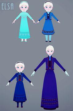 Film: Frozen ===== Costume Design: Elsa