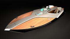 Razzo concept boat for Riva by Gautier Nevoret, via Behance