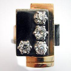 Achat et vente de bijoux de valeur - Bijou de créateur - Bague Art Déco signée Jean Despres - Bijoutier joaillier Paris