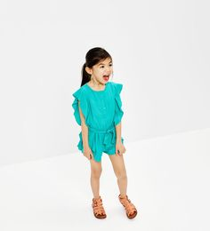 Frilled jumpsuit-Jumpsuits-DRESSES AND JUMPSUITS-GIRL | 4-14 years-KIDS | ZARA United States