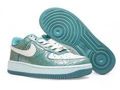 first rate b69a2 7f721 Chaussures Nike Air Force One Blanc Bleu nike10488 - €56.88  Nike