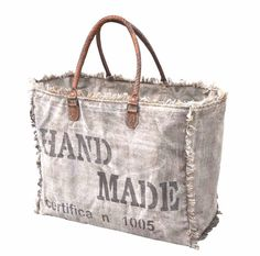⭐canvas tote stamped hand made with two handles